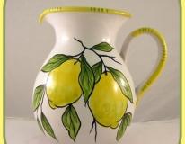 Brocca cm.20 limone fondo bianco